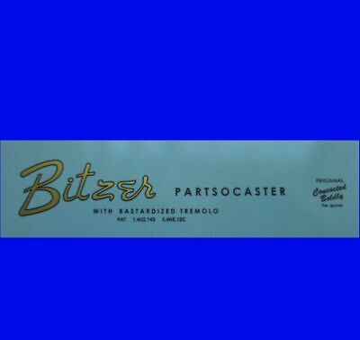 # # Bitzer Partsocaster Neck Decal / Logo For Your Fun Project # #