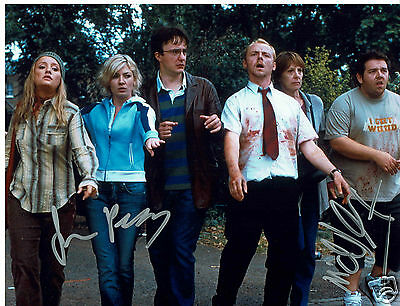 Simon Pegg Nick Frost Actors Shaun of the dead Hand Signed Photograph 10 x 8