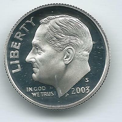 2003 S  DCAM Silver Proof Roosevelt Dime and free shipping