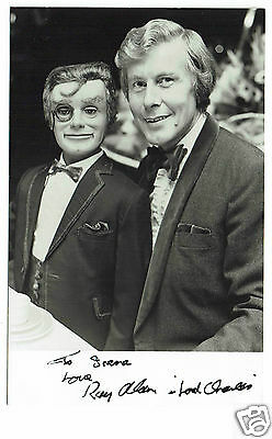 Ray Alan and Lord Charles Ventriloquist Hand Signed Vintage Photograph 5 x 3