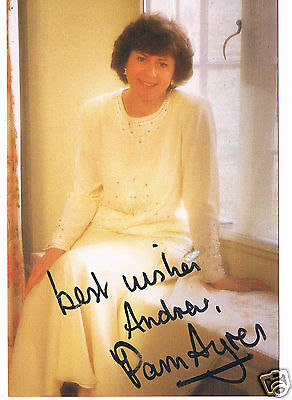 Pam Ayers Author Poet and TV Presenter Hand Signed  Photograph 6 x 4