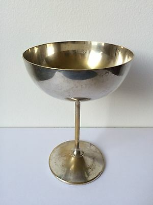 Vintage Bridalane Silver Plated Bronze Chalice Wine Goblet, from Spain