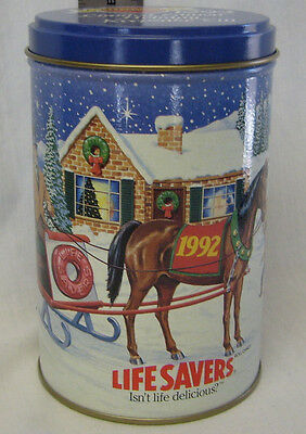 1992 Lifesaver Limited Edition Holiday Keepsake Tin- 80 Delicious Years(unused)