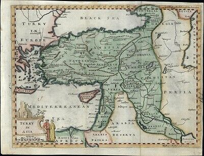 Turkey in Asia Persia Arabia Holy Land Palestine 1760 antique rare Pomarede map