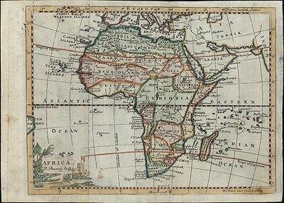 "Africa continent ""Negroland"" ""Hottentots"" 1760 antique Pomarede scarce map"