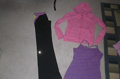 Lot of 1 Girls Ivivva by Lululemon Pants,  Jacket and Tank Top sz 12