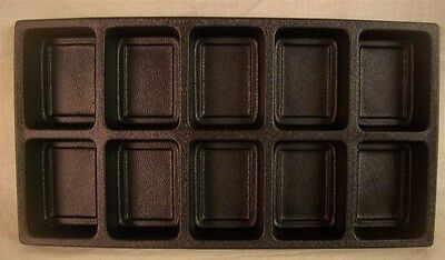 Jewelry Display Fixtures 3 NEW 10 COMPARTMENT PLASTIC TRAY LINER INSERTS BLACK