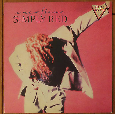 Simply Red A New Flame Vinyl lp VG/VG+ with Inner WX 242