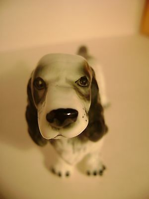Vintage English Springer Spaniel Porcelain Dog Figurine