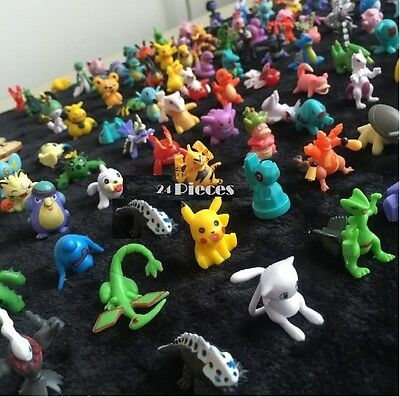 Pokemon Mini Action Figures 24 Pcs Set Pokemon Figure Toys Party Gift Play Set