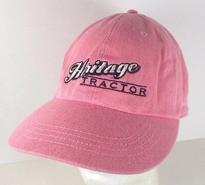 Pink Heritage Tractor John Deere Strapback Hat Cap Embroidered Ladies Womens a5e26f758