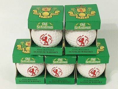 VINTAGE 1982 5 Old St. Andrews Scotch Whisky Golf Ball Decanters