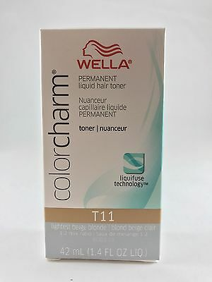 Wella Color Charm Permanent Hair Toner -T11 Lightest Beige Blonde +Free Shipping