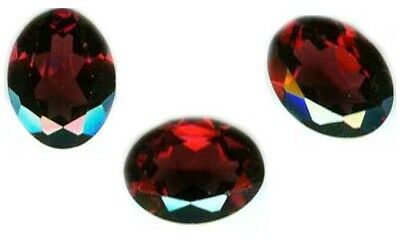 Antique 19thC 2ct Faceted Blood Red Garnet 9mm*7mm Gem