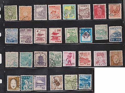(U13-16) 1899-1970 Japan mix of 109stamps value to 260Y (A)