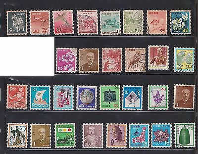 (U13-17) 1900-70 Japan mix of 68stamps value to 600Y (B)