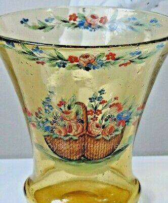 Antique Edwardian / Victiorian FLORAL VASE - Flower Basket - Wonderful Condition