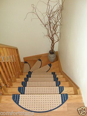 Set of 15 Carpet Stair Mat Stair Treads for Narrow Steps - made in Europe