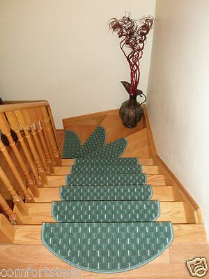 Set of 15 Carpet Stair Treads Stair Mats - made in Europe - ON SALE NOW!