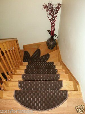 Set of 15 Beautiful Carpet Stair Mats Stair Treads - made in Europe ON SALE NOW!