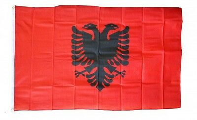 ALBANIA  FLAG 3 x 5 '  FLAG -  NEW 3X5 INDOOR OUTDOOR COUNTRY FLAG -