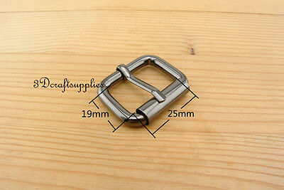 belt buckle roller hardware pin buckle 1 inch 25mm gunmetal 8 pcs U137