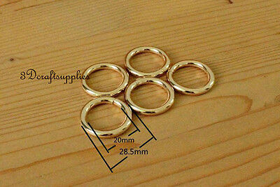 metal O rings O-ring purse ring connector light gold 19 mm 3/4 inch 14pcs P89