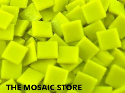 Yellow 1cm Vitreous Glass Tiles - Mosaic Art Craft Tiles Supplies