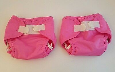Tiny Tush Cloth Diaper Wrap Cover Lot of 2 New Pink