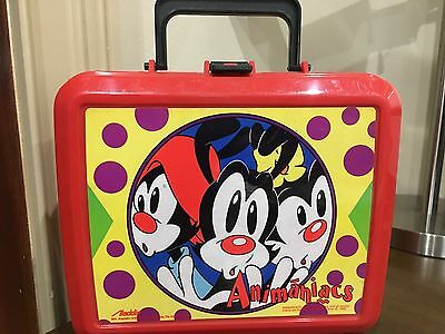 1996 VINTAGE ALADDIN Animaniacs Yakko Wakko Dot Collectible Lunch Box (NO TAGS)
