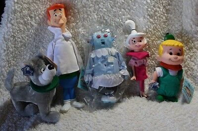 "Vintage Hanna Barbera 1990 The Jetsons Family Doll Set by Applause 9.5"" w/Tags"