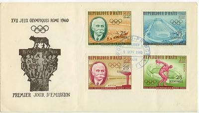 1960 Haiti Rome Olympics First Day Cover
