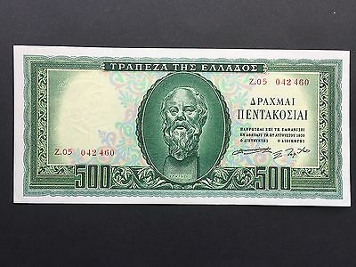 Greece 500 Drachmai P193a 'Socrates' Dated 8th August 1955 EF+