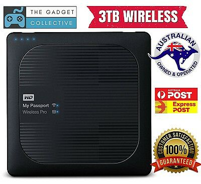 WD My Passport Wireless Pro 3TB Portable External USB Hard Drive HDD