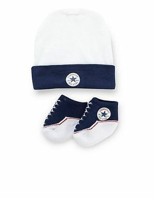 Converse Baby All Star Knit Booties And Hat 2 Piece Set Navy 0-6 Months