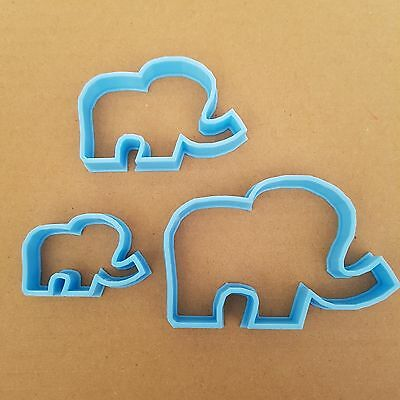 Elephant Cookie Cutter Dough Biscuit Pastry Animal Mammal Shaped Shape Stencil