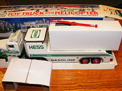 1995 Hess Trailer Truck And Helocopter- Nib