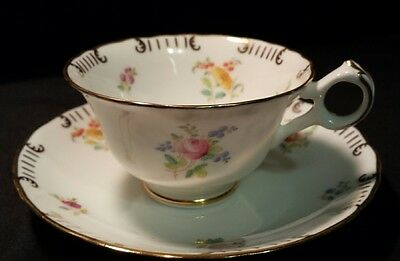 Cauldon England Floral and Gold Tea Cup and Saucer