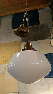 Reclaimed Vintage Antique Restored Brass Schoolhouse Lights. Sweet