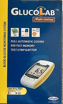 Glucolab Auto-coding blood glucose monitor!! Strips And Needles- NHS Recomm
