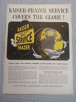 1948 Kaiser Frazer Life Magazine Advertisement Oscar Levant Columbia Record Ad