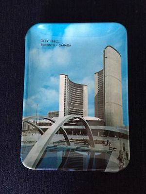 Vintage Plastic Tray/Dish/Trinket Of City Hall Toronto Canada