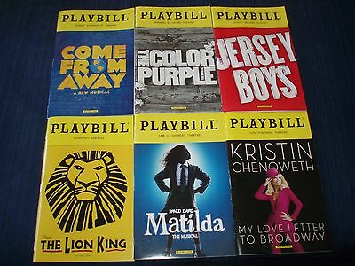 Come From Away,Lion KIng,Matilda,Color Purple,Jersey Boys,Kristen Chenowith,$8ea