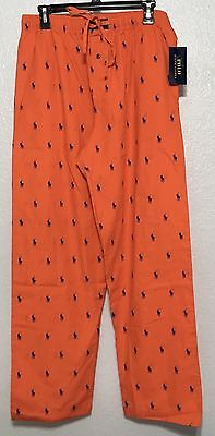 Polo Ralph Lauren Men's Pajama Lounge Pants All Over Pony Sz M L XL MSRP $42