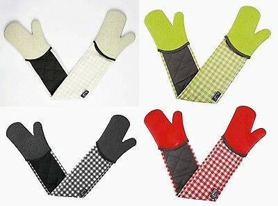 Zeal Kitchen Steam Stop Waterproof Mitts Silicone & Cotton Double Oven Glove