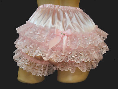 "Nel-jen Adult Sissy Custom ""Handmade Sissy Ruffle Panties Fetish Cosplay Lace"