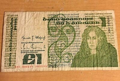 Central Bank Of Ireland 1 Pound Note, 1981