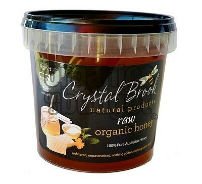 Crystal Brook Organic Raw Honey 1kg