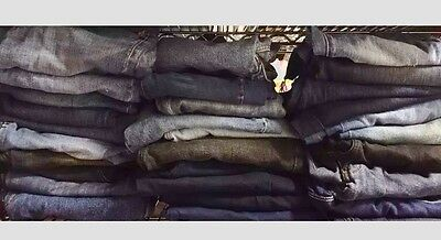 30 Pair Women's JEANS - Wholesale Lot Clothing-Assorted Sizes-Resale Inventory