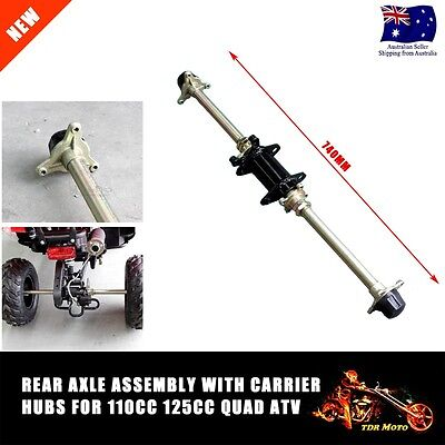Complete Rear Axle Assembly w' Carrier Hubs 110cc 125cc ATV/Quad/Buggy Go Kart